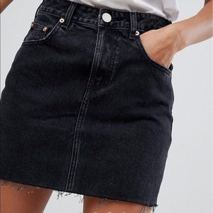 NWOT ASOS Black Denim Skirt